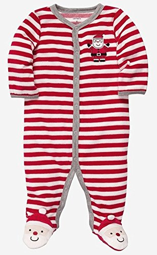 Soft Velour Santa Sleeper! (Size - Newborn) front-17268