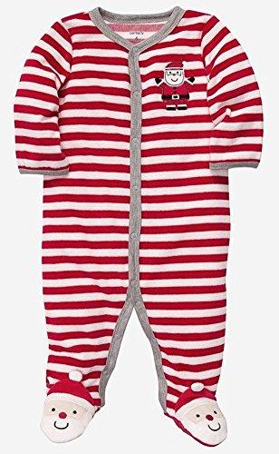 Soft Velour Santa Sleeper! (Size - Newborn) front-17268