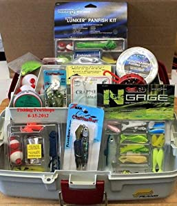 Plano Single Tray Tackle Box - W Mega 250 Piece Tackle Kits Included! by South Bend