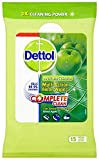 Dettol Complete Clean Green Apple Floor Wipes 15 Pieces (Pack of 3)
