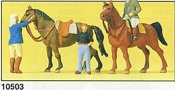 Preiser 1/87 Ème - PR10503 - Modélisme Ferroviaire - Personnages à l'Ecole d'Equitation