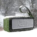 [10W Altavoz impermeable] Altavoz Bluetooth Portable aLLreLi Rockman-L con hasta 8 horas de duración - ejercito verde