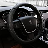 Black Steering Wheel Cover All Weather Protection Fits All Standard Size 15''