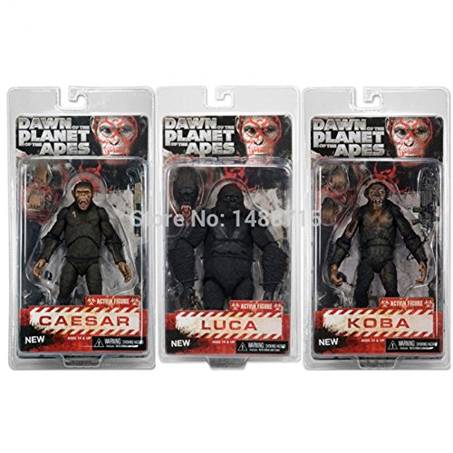 3pcs Sci-Fi Movie Dawn of the Planet of the Apes Caesar Koba Luca NECA Ver.2 Action Figure Toys 7