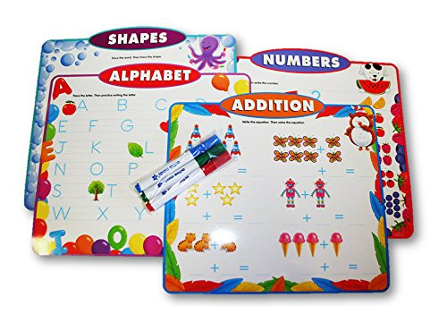 Active Minds Learning Mats - Addition, Alphabet, Numbers and Shapes