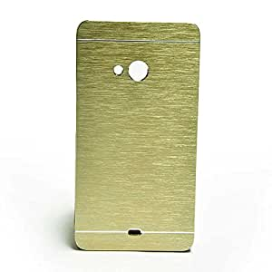 Friends Electronics Motomo Cover Gold Metal + Polycarbonate Back cover for Nokia N640 Xl