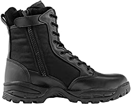 Maelstrom Men\'s TAC FORCE 8 Inch Waterproof Insulated Military Tactical Duty Work Boot with Zipper, Black, 12 M US