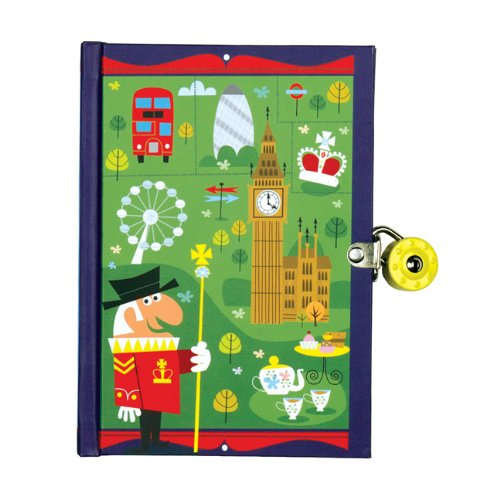 Mudpuppy - Diario con llave, diseño Londres (MPDI37336)