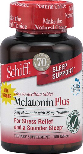 Schiff Melatonin Plus 25 Mg Theanine -- 3 Mg - 120 Tablets