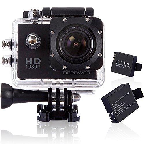 DBPOWER ウェアラブルカメラ 12MP 1080P フルHD 1200...