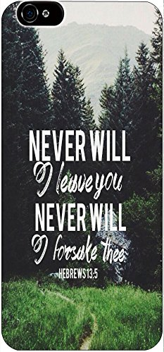 Never Will I Leave You Never Will I Forsake Thee Hebrews 13:5 Christian Quote Bible Verses Print Pattern Theme Protective Cover Sleeve Case For Apple Iphone 6 4.7 Inches front-1083770