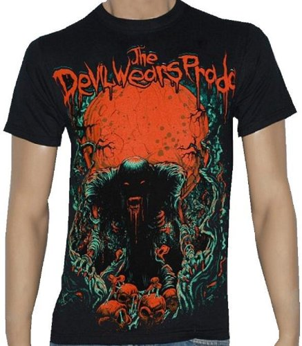 The Devil Wears Prada - Blood Red Moon - Black T-Shirt - Size Youth-Large