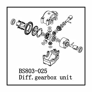 Redcat Racing BS803-025 Front- Rear Complete Diff and Bulk Head 1 Unit
