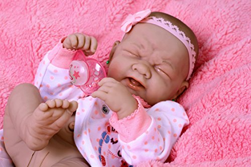 Crying Baby Cute Girl Berenguer Life Like ,Reborn Preemie Pacifier Doll + Cute Extras Accessories 14