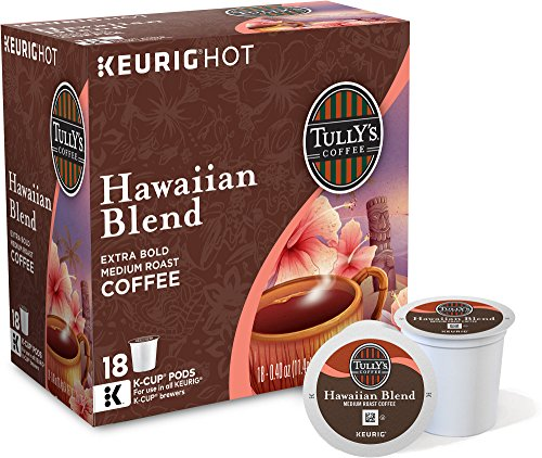 Tully's Hawaiian Blend Extra Bold Coffee Keurig K-Cups, 18 Count (Keurig Hawaiian compare prices)