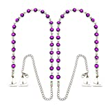 Strap N' Guard Women's Purple Round Crystal Pin Straps for Bra and Clothing