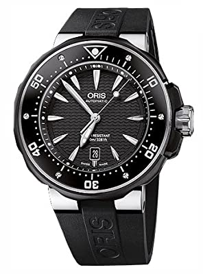 Oris Men's 01 733 7646 7154 07 4 26 04TEB Black Dial Watch