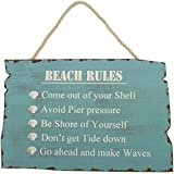"""Wooden """"Beach Rules"""" Sign"""