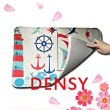 DENSY-Custom-Machine-Washable-Retro-Nautical-Anchor-Indoor-Outdoor-Doormat-Bathroom-Kitchen-Decor-Area-RugFloor-Mat-18-x-30-Inch
