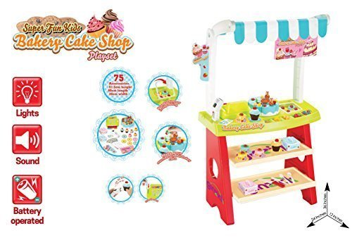 Ginzick Super Fun Kids Bakery Cake Shop Playset 75 pieces (Bakery Food compare prices)