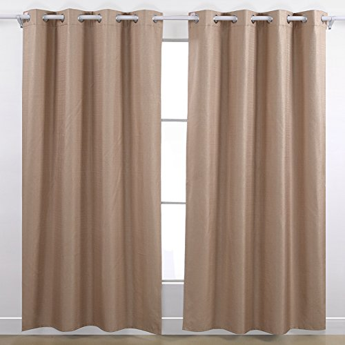 Deconovo Heavy Thick Grommet Top Blackout Curtains With