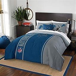 Detroit Lions Full Comforter & Shams Set, NFL Boys 3 Piece Bedding