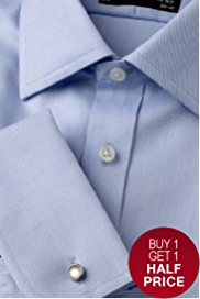 Sartorial Slim Fit Pure Cotton Twill Shirt