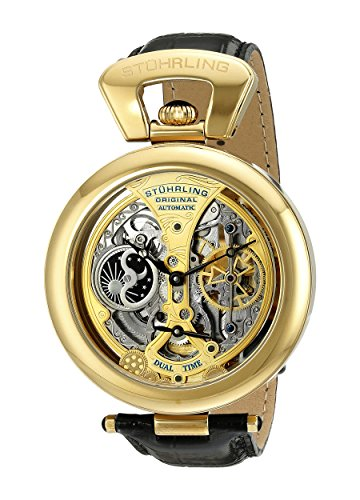 stuhrling-original-mens-automatic-watch-with-multicolour-dial-analogue-display-and-black-leather-str
