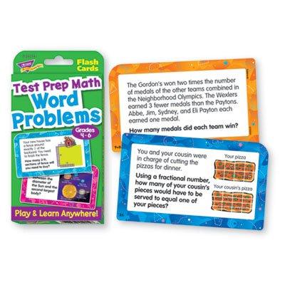 TREND ENTERPRISES INC. T-24014 CHALLENGE CARDS TEST PREP MATH GR 4 - 6 WORD PROBLEMS G