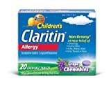 Claritin Children's (5mg) Grape, 20-Count Chewable Tablets