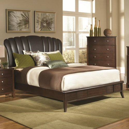 Jessica Collection Contemporary Style Queen Size Platform Bed