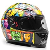 AGV GP TECH VALENTINO ROSSI FACES HELMET BLK/YELLOW LG