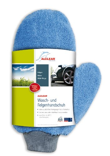 ALCLEAR 950013b Ultra-Microfibre Wash and Wheel Mitt 26 x 12 cm Blue