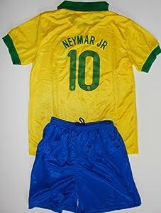 Buy 2013 brazil brasil home football soccer kids jersey & short NEYMAR JR 10 by CBF