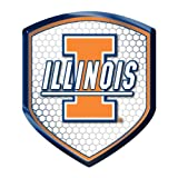 Illinois Fighting Illini NCAA Reflector Decal Auto Shield for Car Truck Mailbox Locker Sticker College Licensed Team Logo at Amazon.com