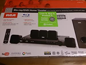 RCA 300W Blu-ray/DVD Home Theater System - Black (RTB1013)