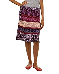Fashiana Girls|Women's Cotton Wrap Skirt (Fsktf114Ktv _Violet _Free Size)