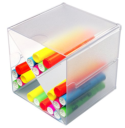 Buy Deflecto Stackable Cube Organizer, X-Divider (350201CR)