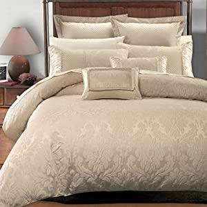 Royal Hotel 8PC- Full/Queen Sara Jacquard Comforter Set including Down-Alterntive Comforter By Hotel Collection