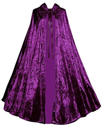 Victorian-Vagabond-Gothic-Renaissance-Medieval-Steampunk-Velvet-Cape-Cloak-Purple