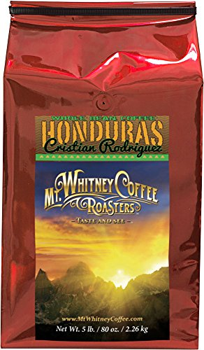 Mt. Whitney Coffee Roasters: 5Lb Honduras Cristian Rodriguez, Medium Roast Whole Bean Coffee, Nitrogen Packed For Freshness