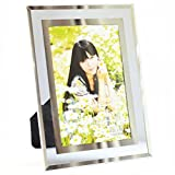 Giftgarden Picture Frames - Morden Glass Edging Picture Frame for Wedding Decoration 4x6 Inch