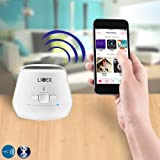 Liger® NFC Mini Portable Bluetooth Speaker With Hands Free Calling Built-In Microphone and Volume Control - Works With Apple and Android Devices (White)