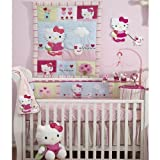 Lambs & Ivy Bedtime Originals Hello Kitty and Puppy 4-Piece Baby Crib Bedding Set, Pink