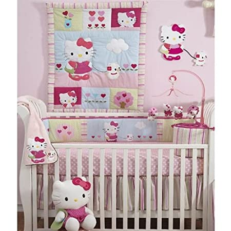 Hello Kitty and Puppy Crib bedding