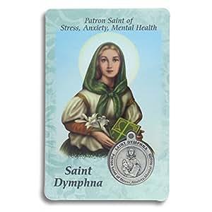 Amazon.com : Saint St St. Dymphna Prayer Card Holy Card
