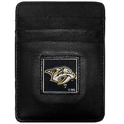 NHL Nashville Predators Genuine Leather Money Clip/Cardholder Wallet