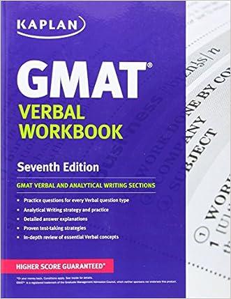Kaplan GMAT Verbal Workbook (Kaplan Test Prep)