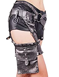 Steampunk Backpack Hiking Waist Fanny Pack Pirate Costume Messenger Bags Tool Holder