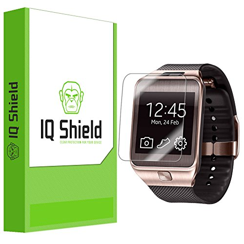 IQ Shield LIQuidSkin - Samsung Galaxy Gear 2 Screen Protector with Lifetime Replacement Warranty - High Definition (HD) Ultra Clear Watch Smart Film - Premium Protective Screen Guard - Extremely Smooth / Self-Healing / Bubble-Free Shield - Kit comes